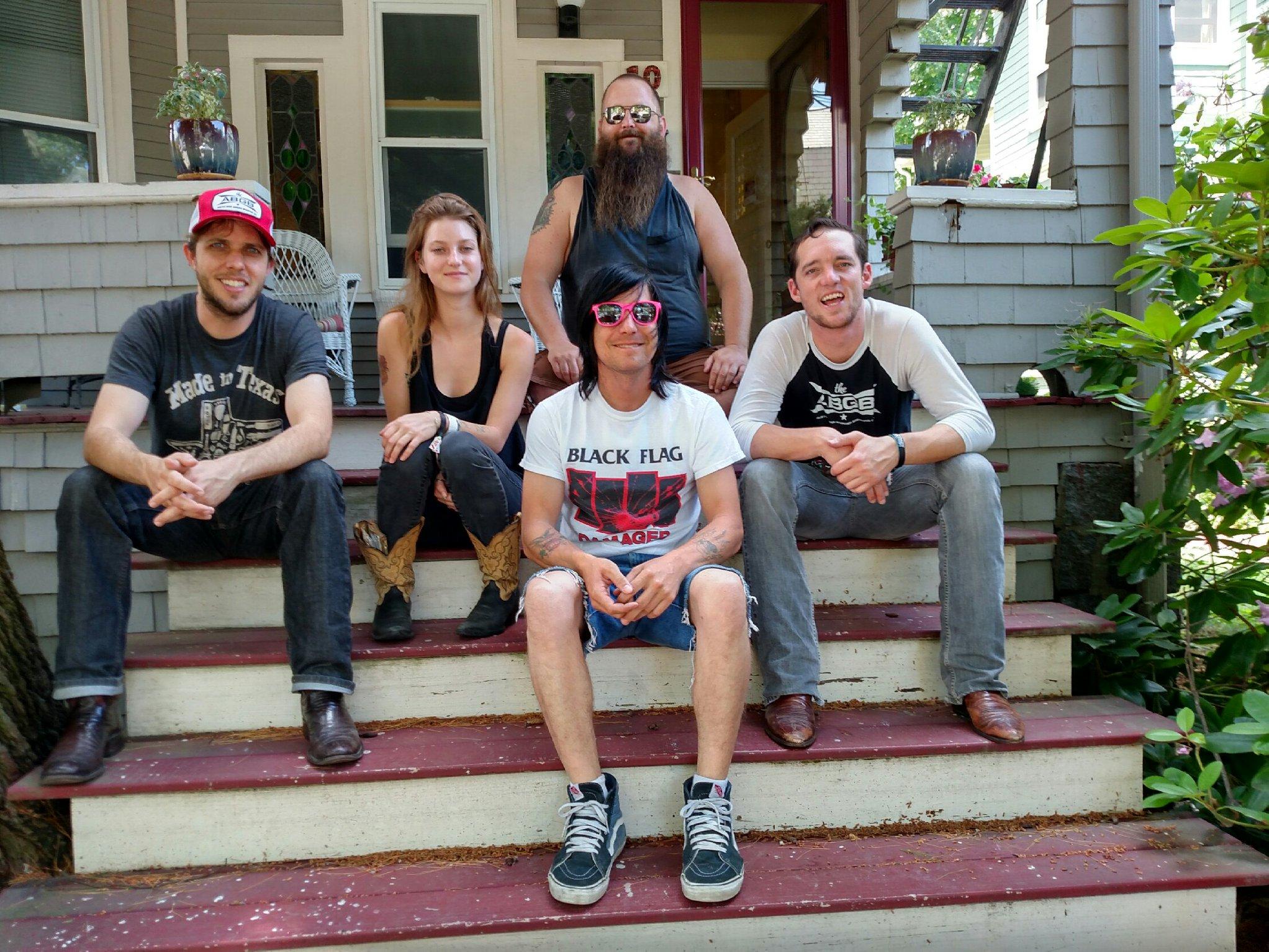 the gang outside Boston