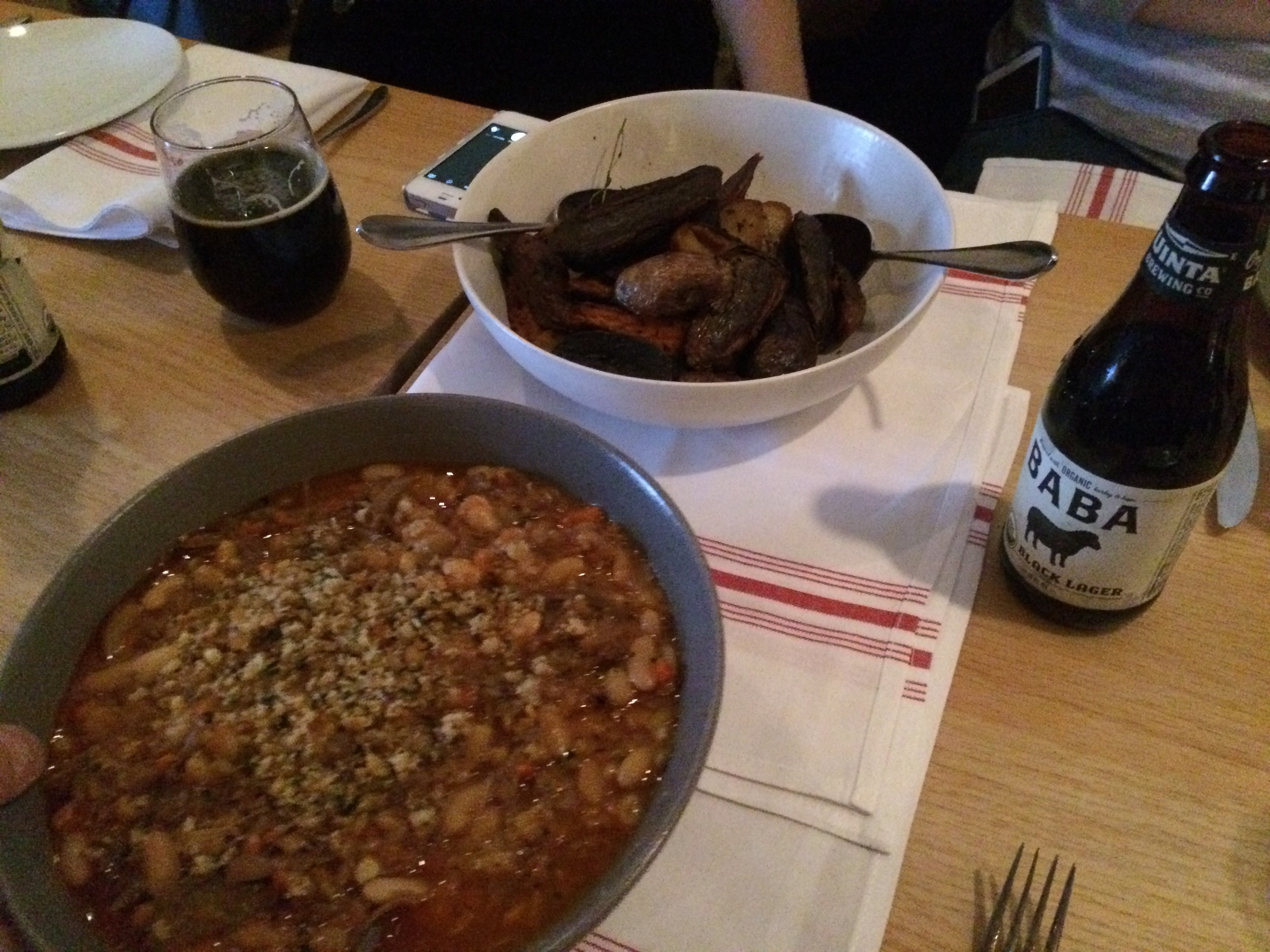 Cassoulet and roasted potatoes