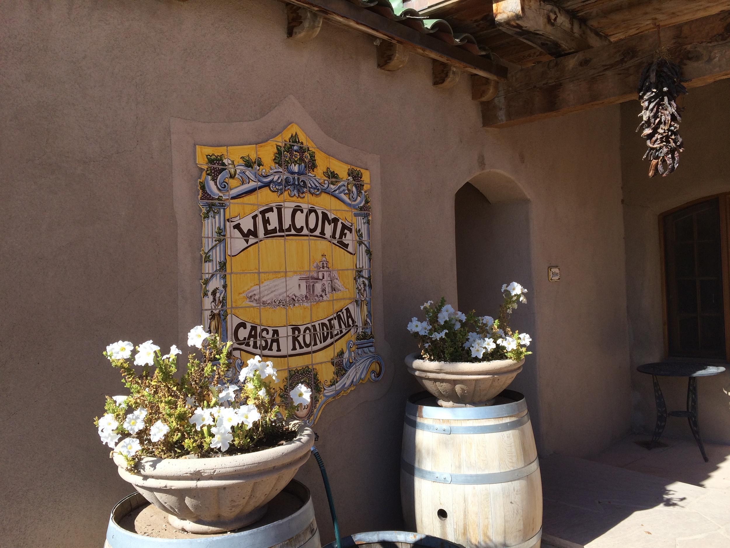 Casa Rondena winery entrance