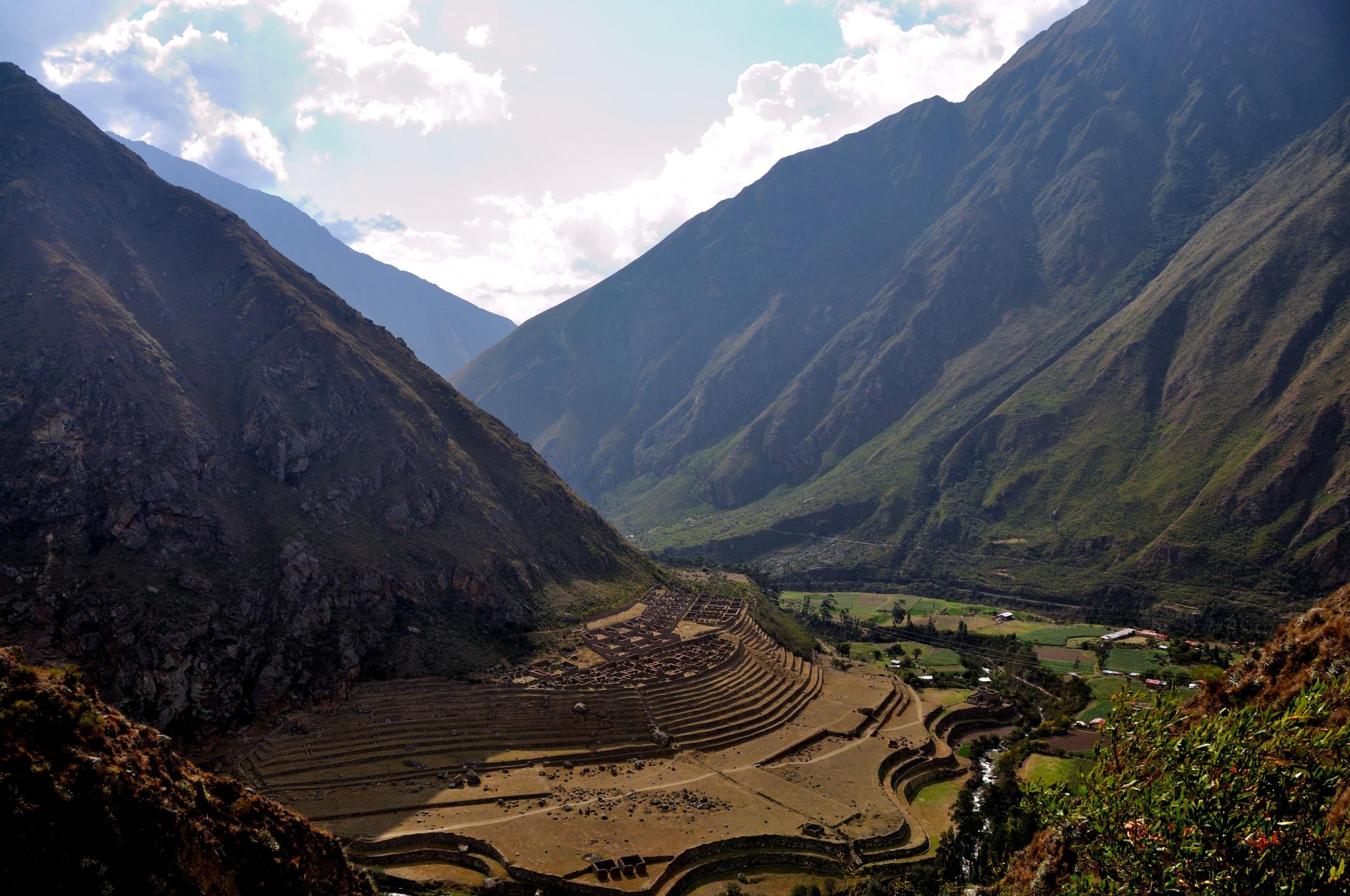 inca ruins of llacatapata