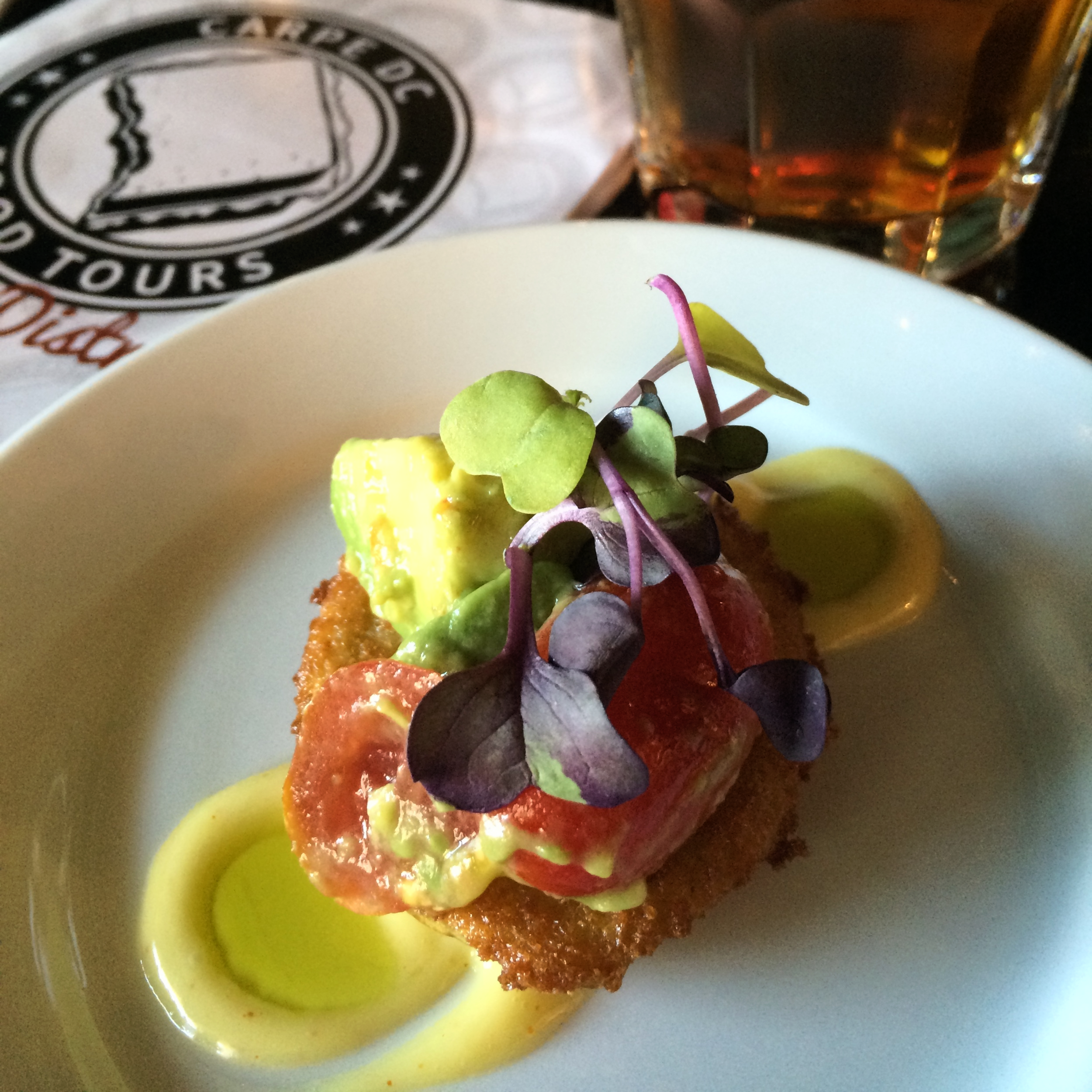 fried green tomato at eatonville