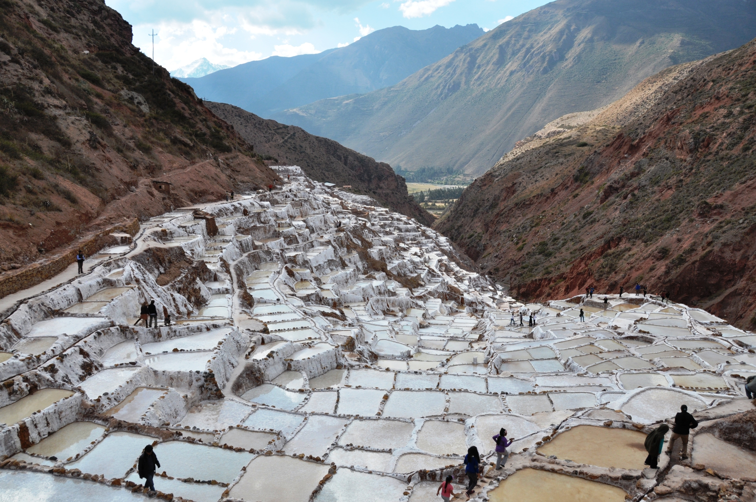 maras salt ponds - have not quite seen anything like this