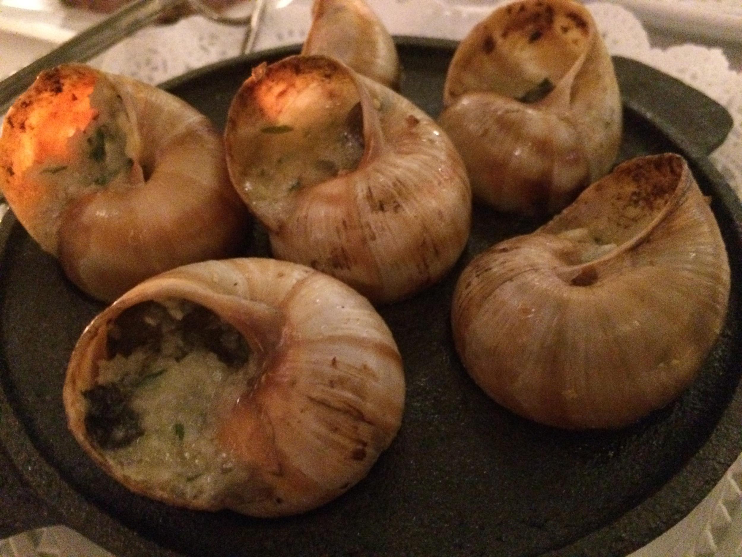 escargot- yum!