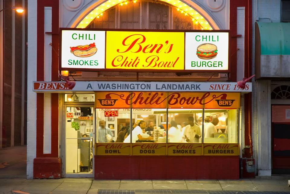 ben's chili bowl on u street, dc (photo courtesy facebook)