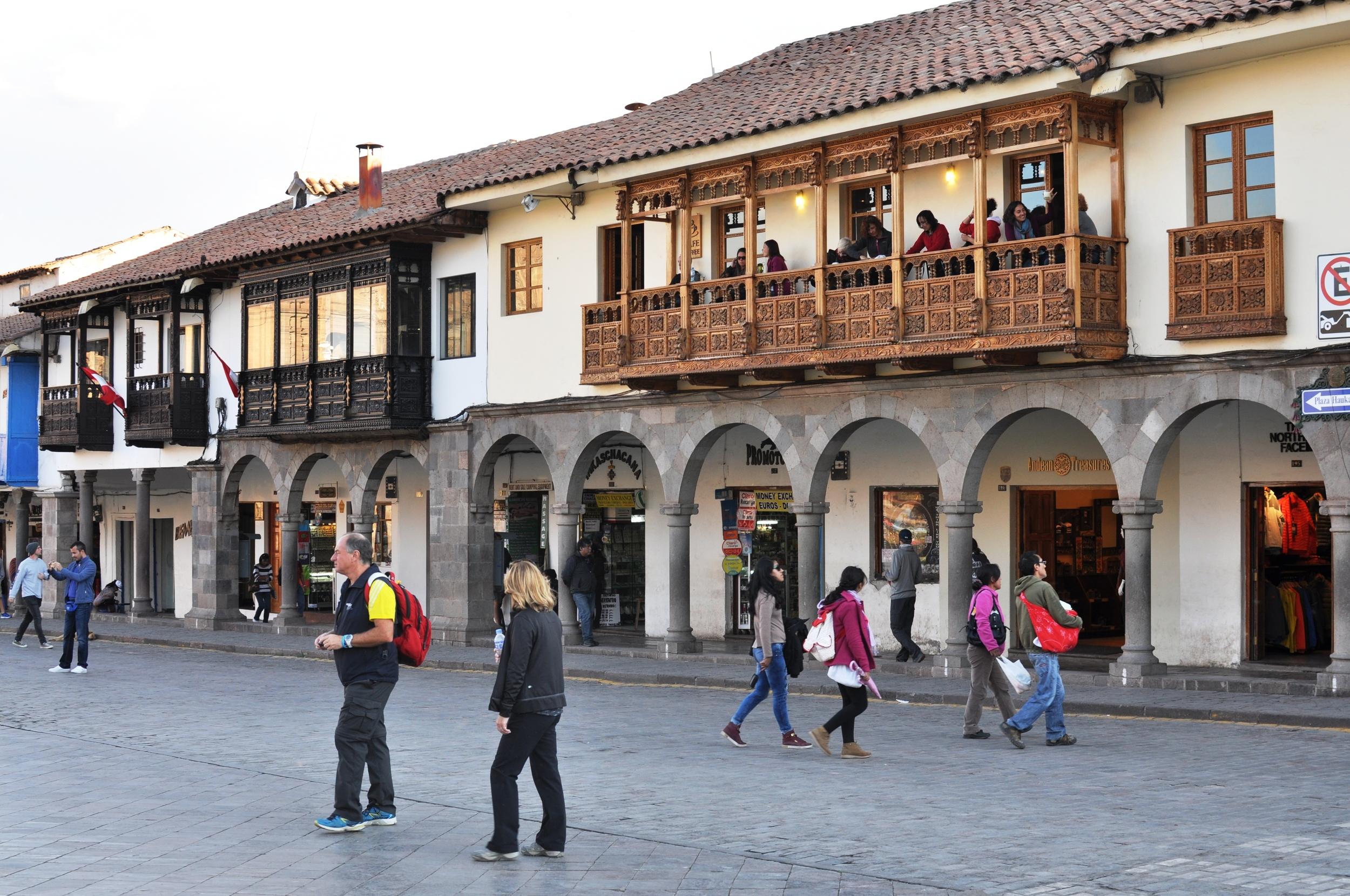 Bars overlooking the Plaza De Armas