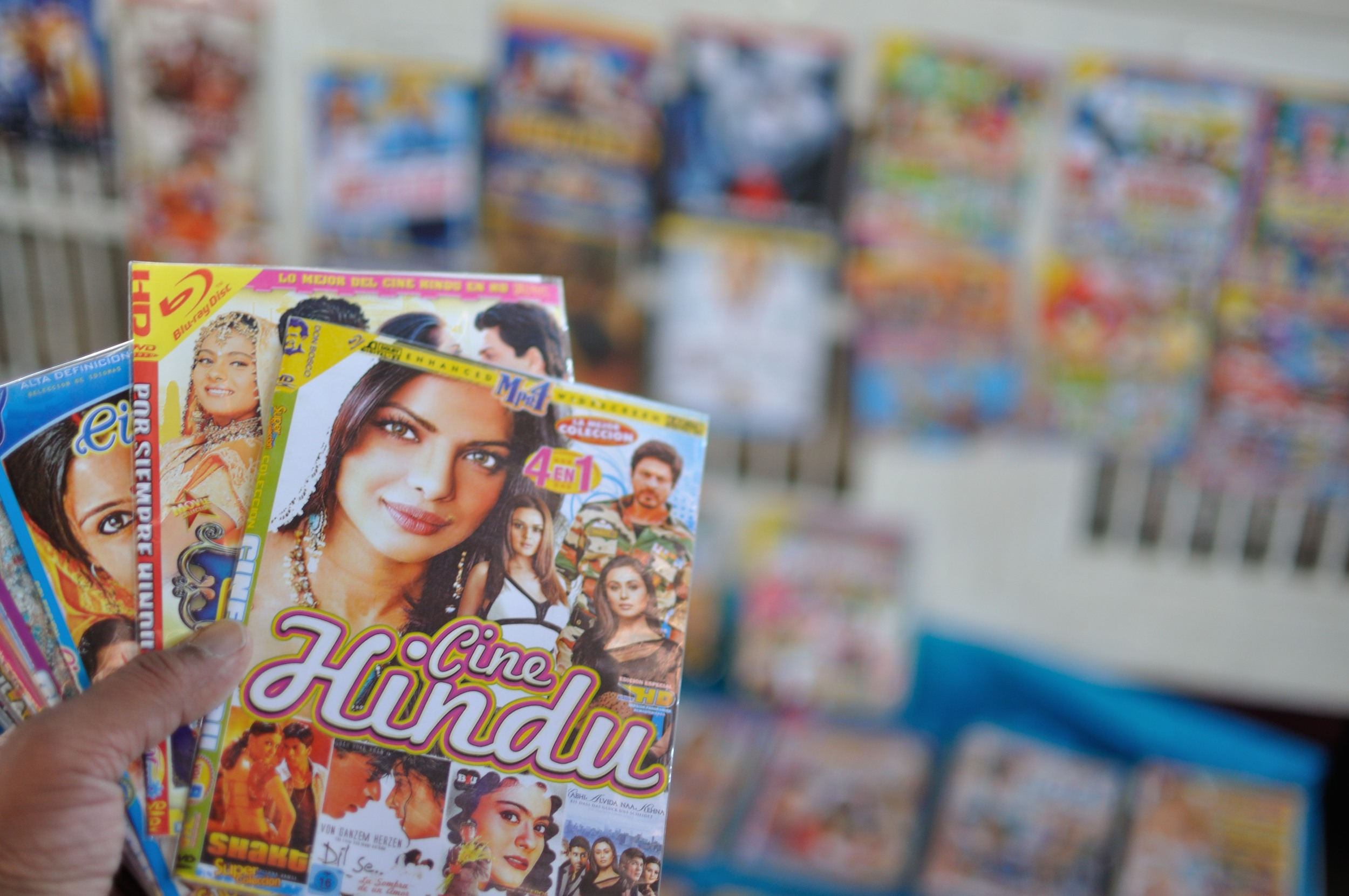 We even found some Bollywood movie DVDs - Cine Hindu as they call in Peru :)