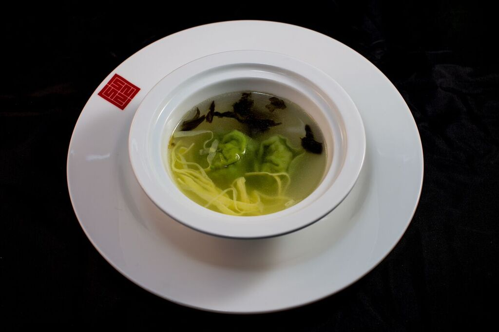 Crab Wonton soup - light and fresh