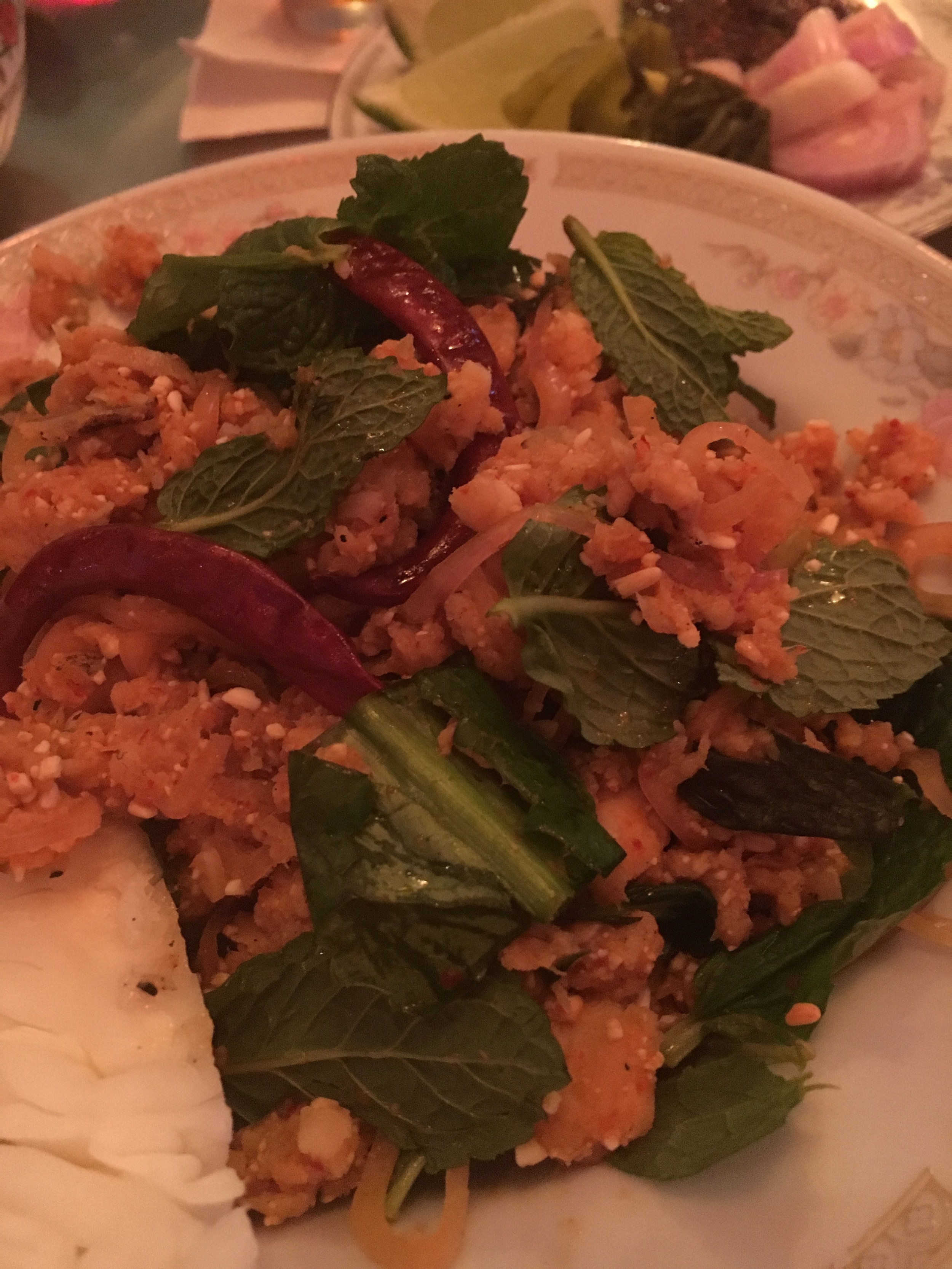 catfish salad - so hot and so good!