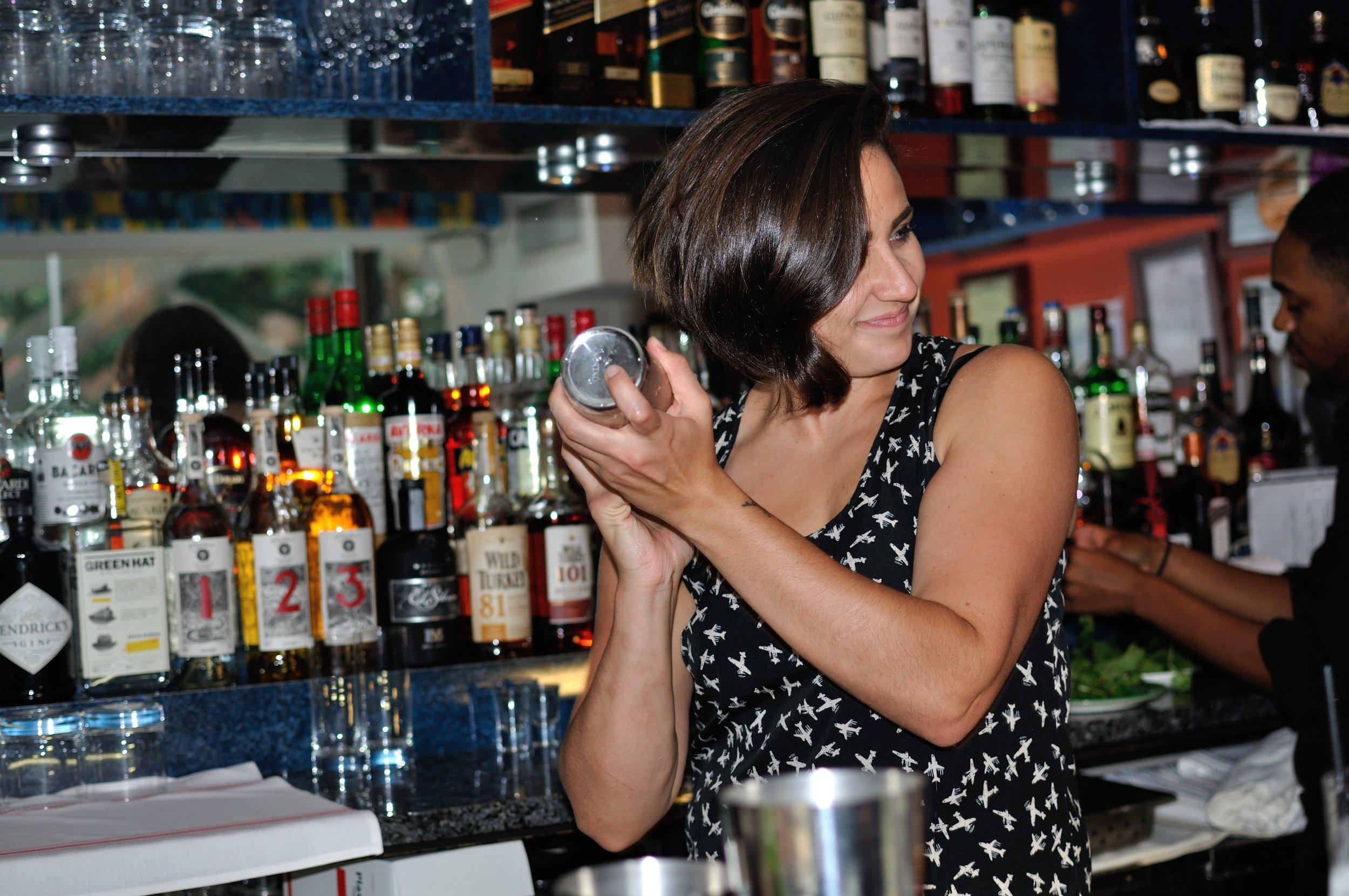 Cocktail whiz Carlie Steiner