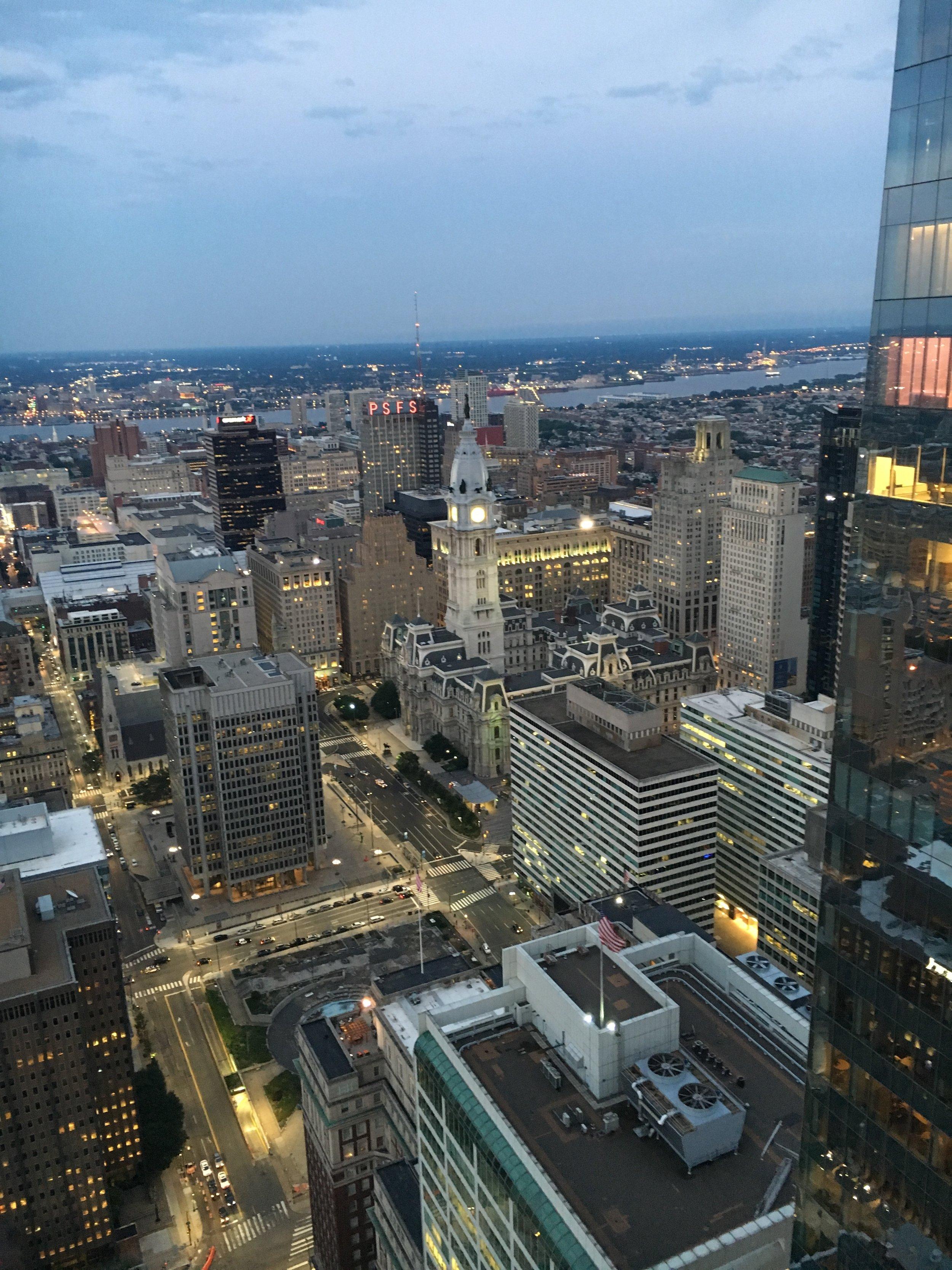 Philadelphia - from a rooftop beer garden just behind the Windsor
