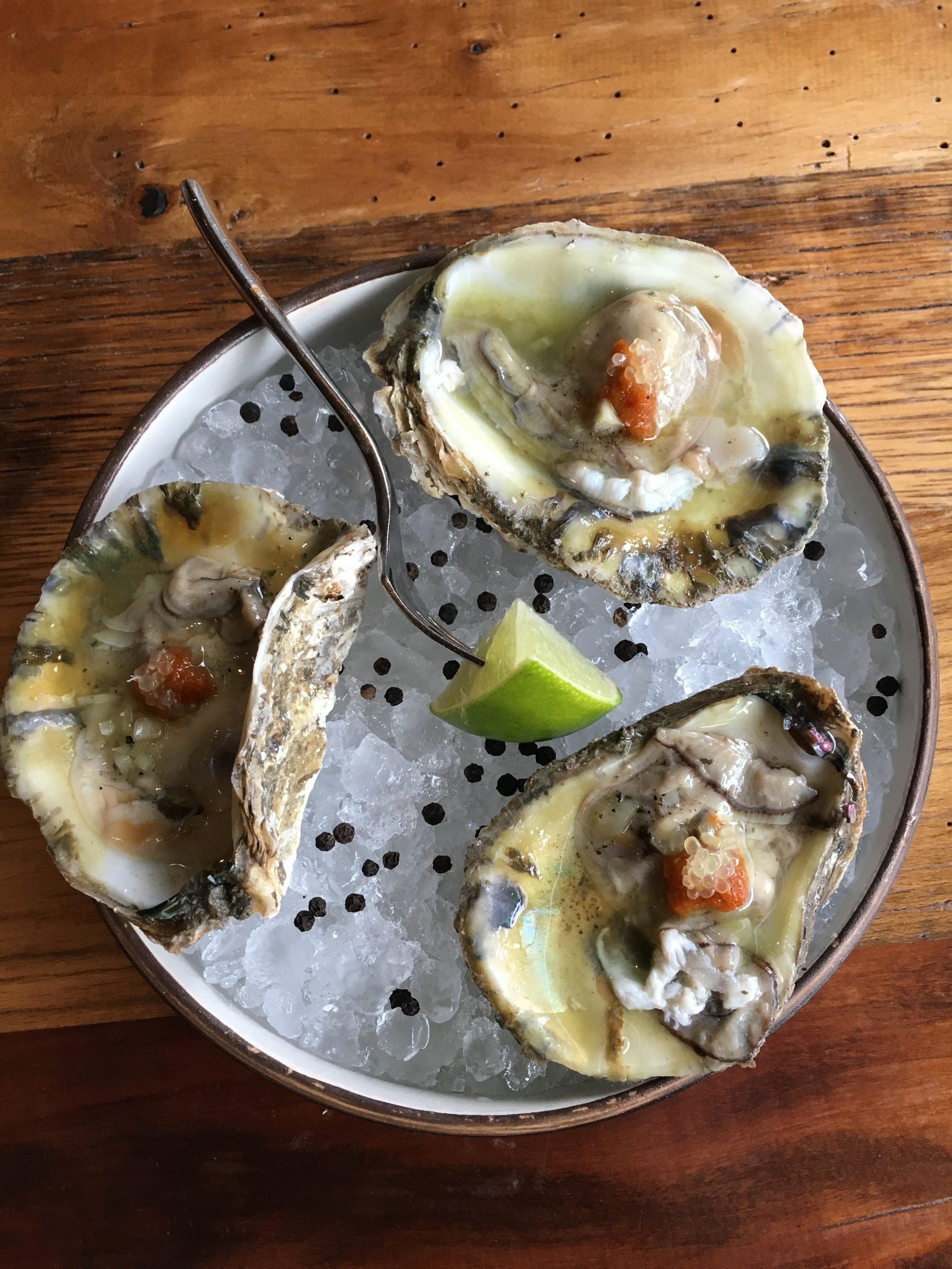 Oysters at The Guild House