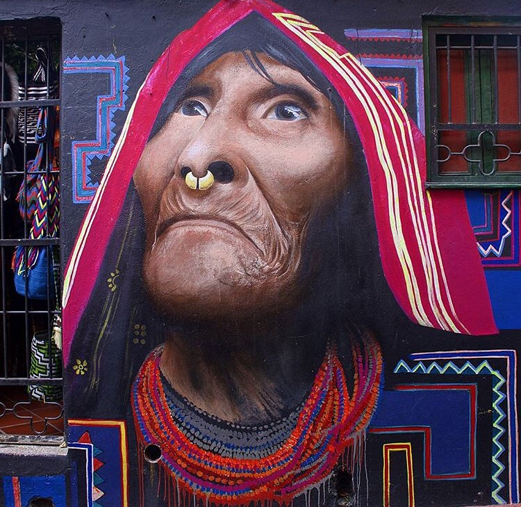 One of my favorites - portrait of an indigenous woman by popular artist Gauche . Stunning!