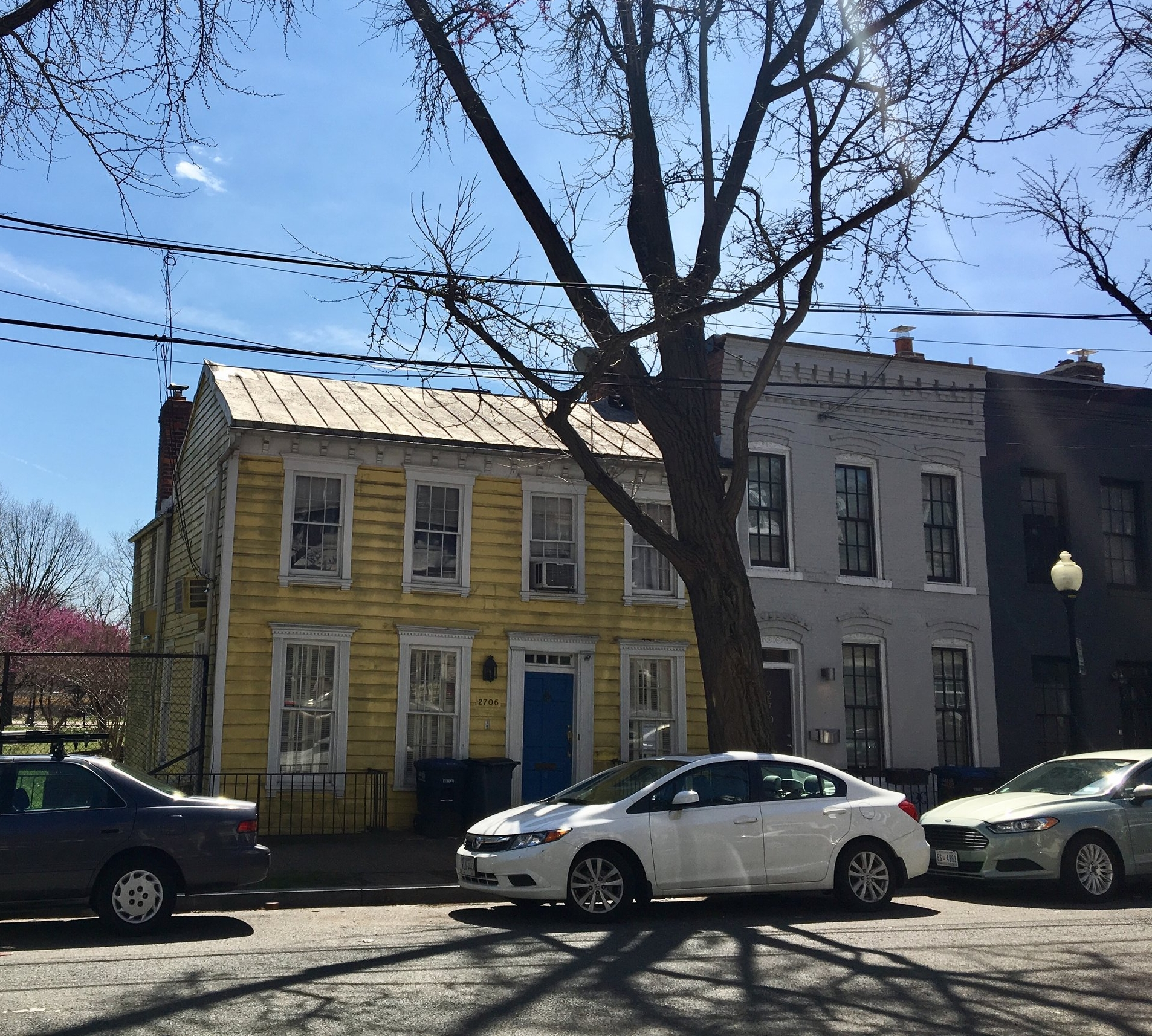 Julia Child lived in that yellow house at one point!