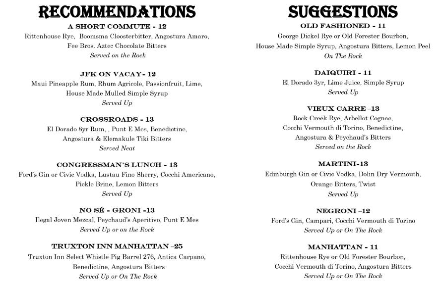 Opening menu (May 2017)
