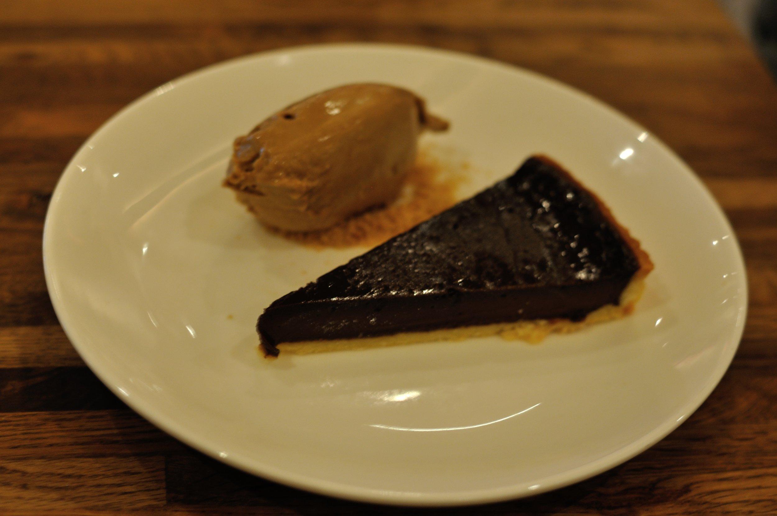 Deliciously decadent chocolate tart