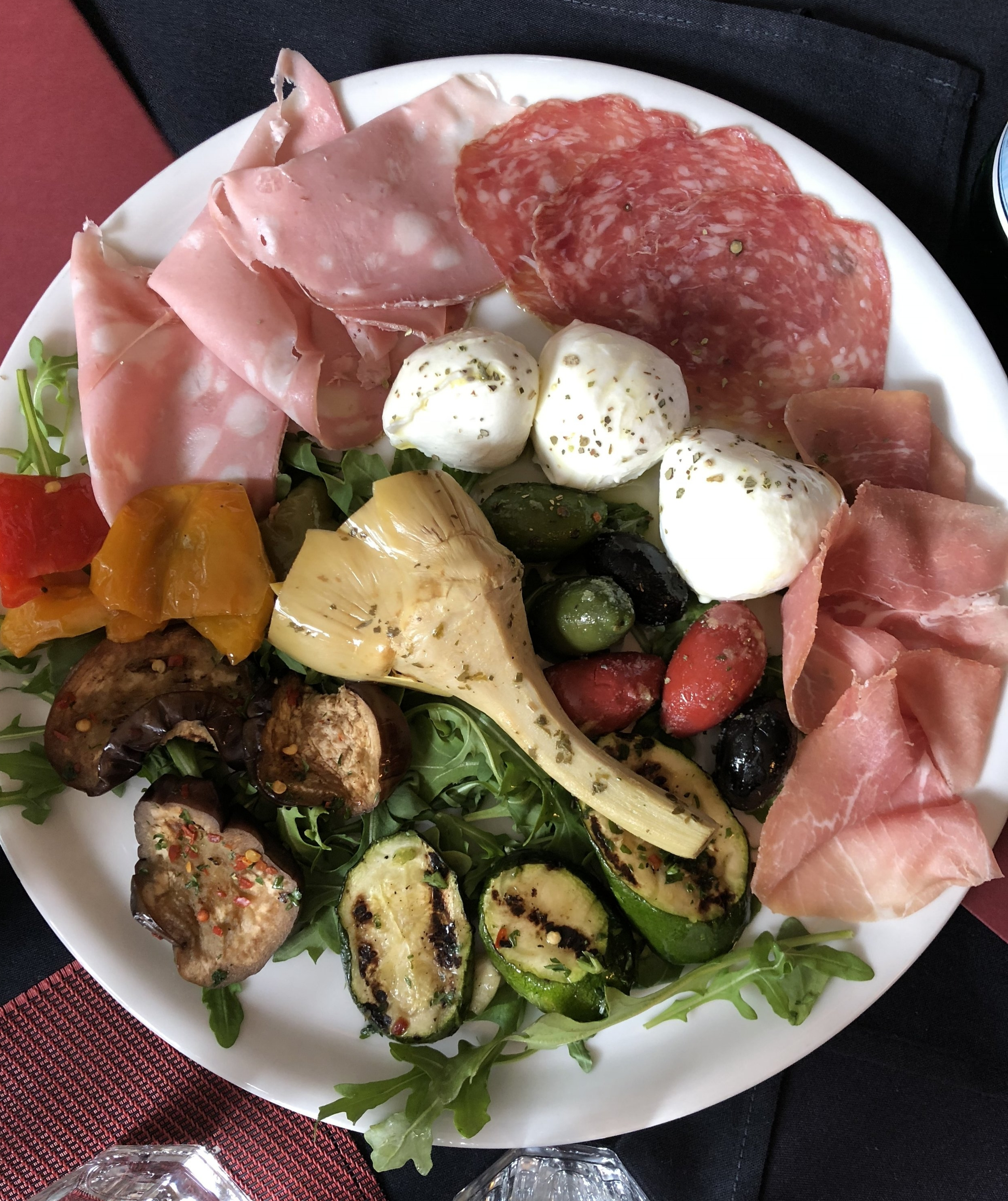 An appetizer sampler at Il Canale