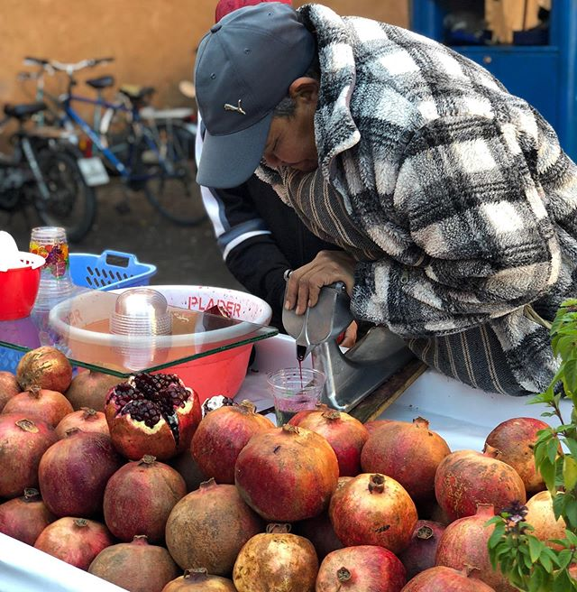 Fresh pressed pomegranate juice. Literally. #throwback #marrakech #tbt #throwbackthursday