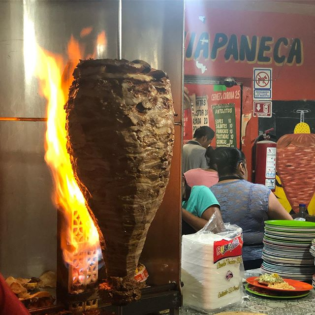 Roadside Al Pastor in Tulum Puebla. This place came highly recommended by multiple people - and I can see why. Incredibly flavorful meat, unassuming digs, a mix of locals and visitors, and a salsa tray to suit your spice needs. So. Damn. Good. Even if you are staying in the beach zone in Tulum, the 10-15 min ride into town for this is needed. Multiple times.