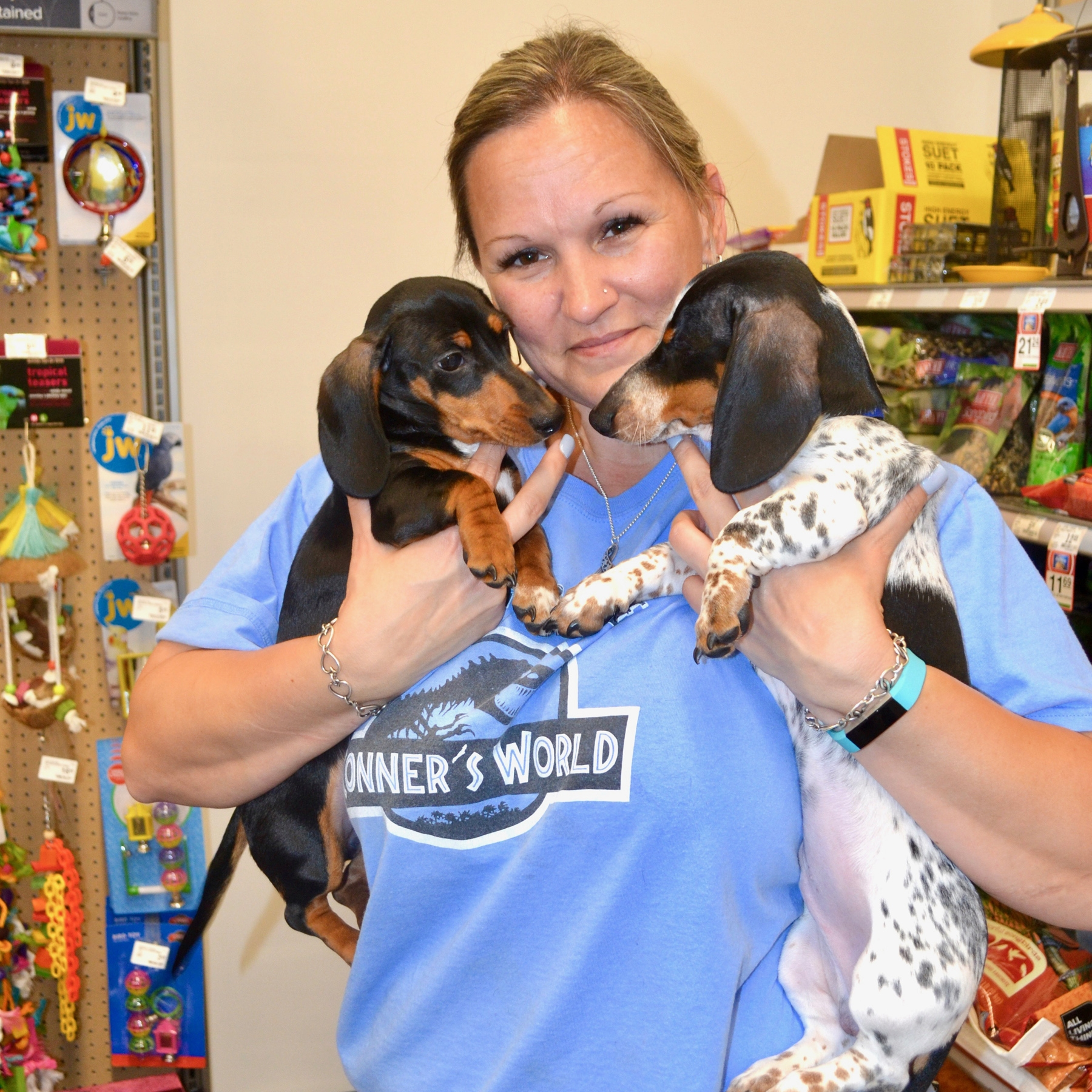 Kristie Vaughan with Kona and Lodi.