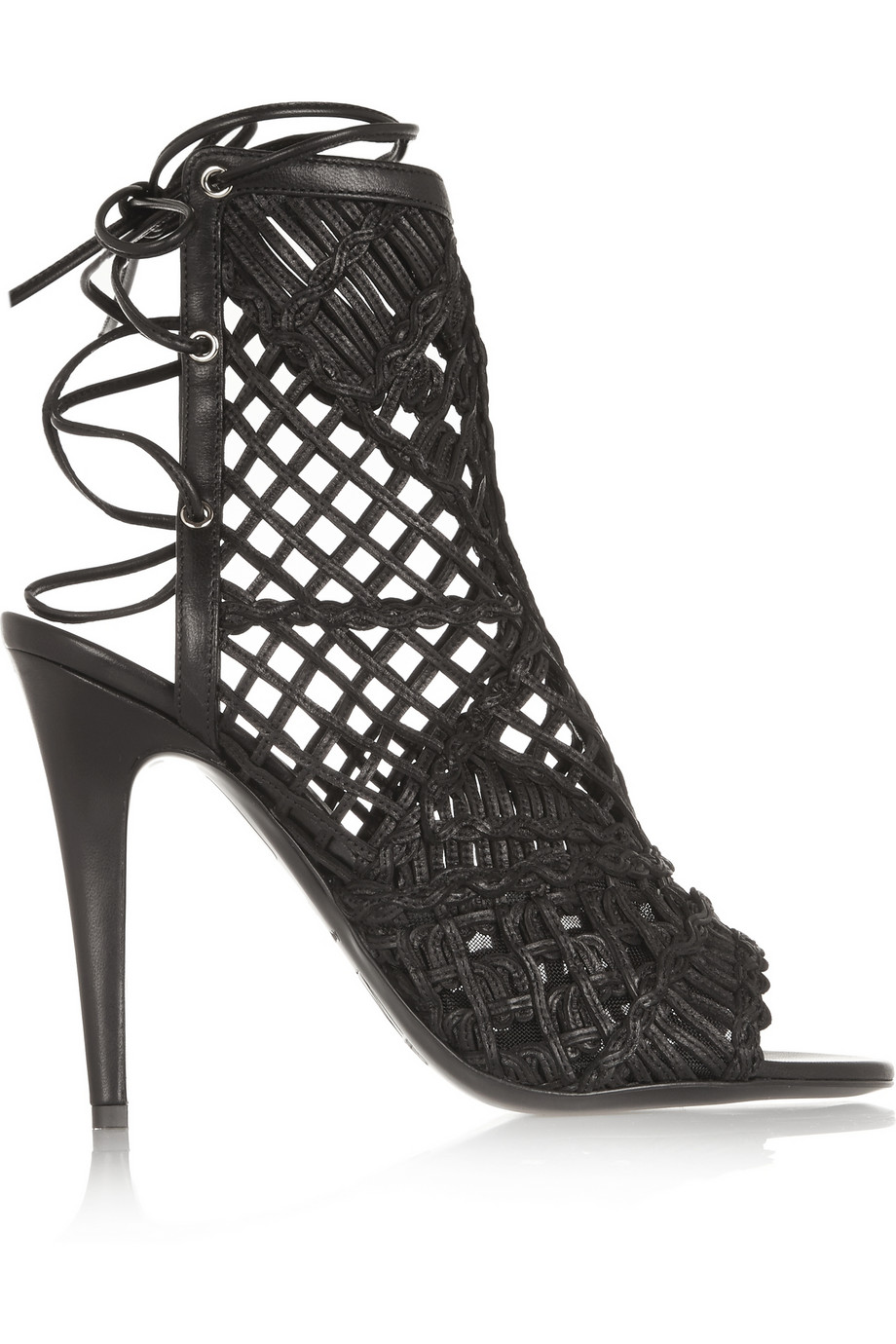 Tamara Mellon Black Widow Macramé Sandals $597.50