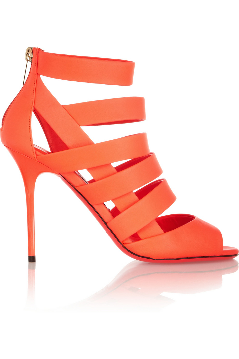Jimmy Choo Damsen Neon Matte Leather Sandals $547.25