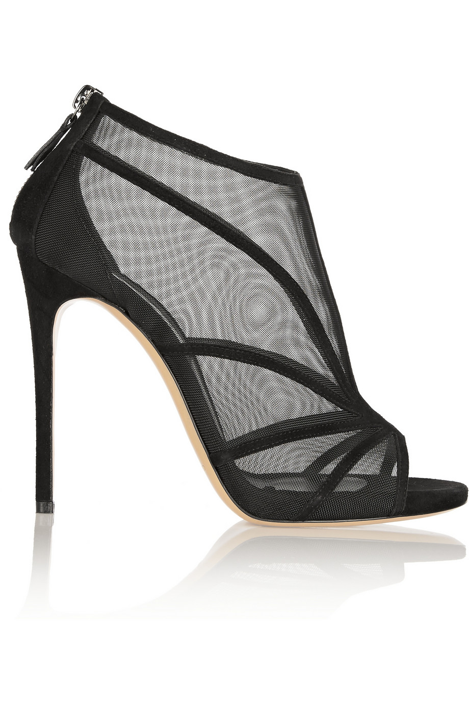 Casadei Suede and Mesh Ankle Boots $388