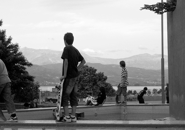 Skateboarding Greece