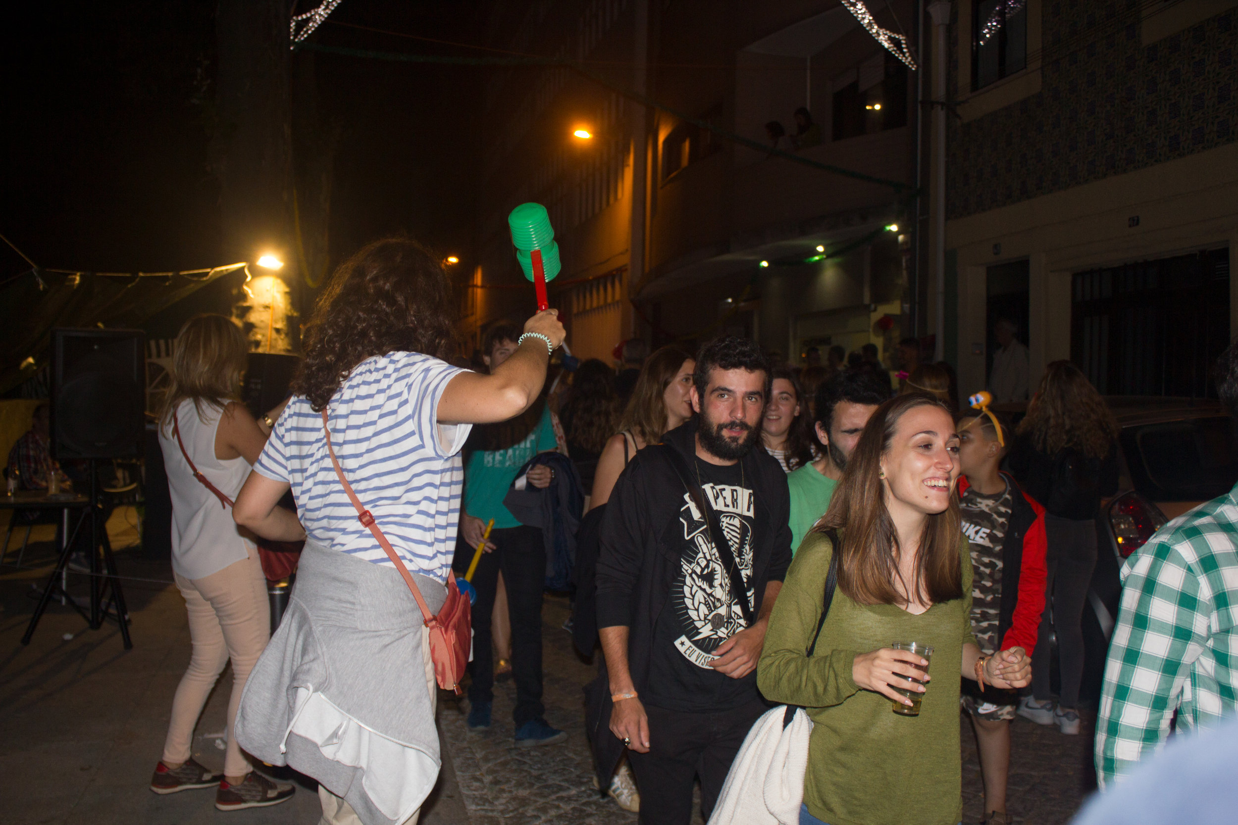 Joana bopping people on the head