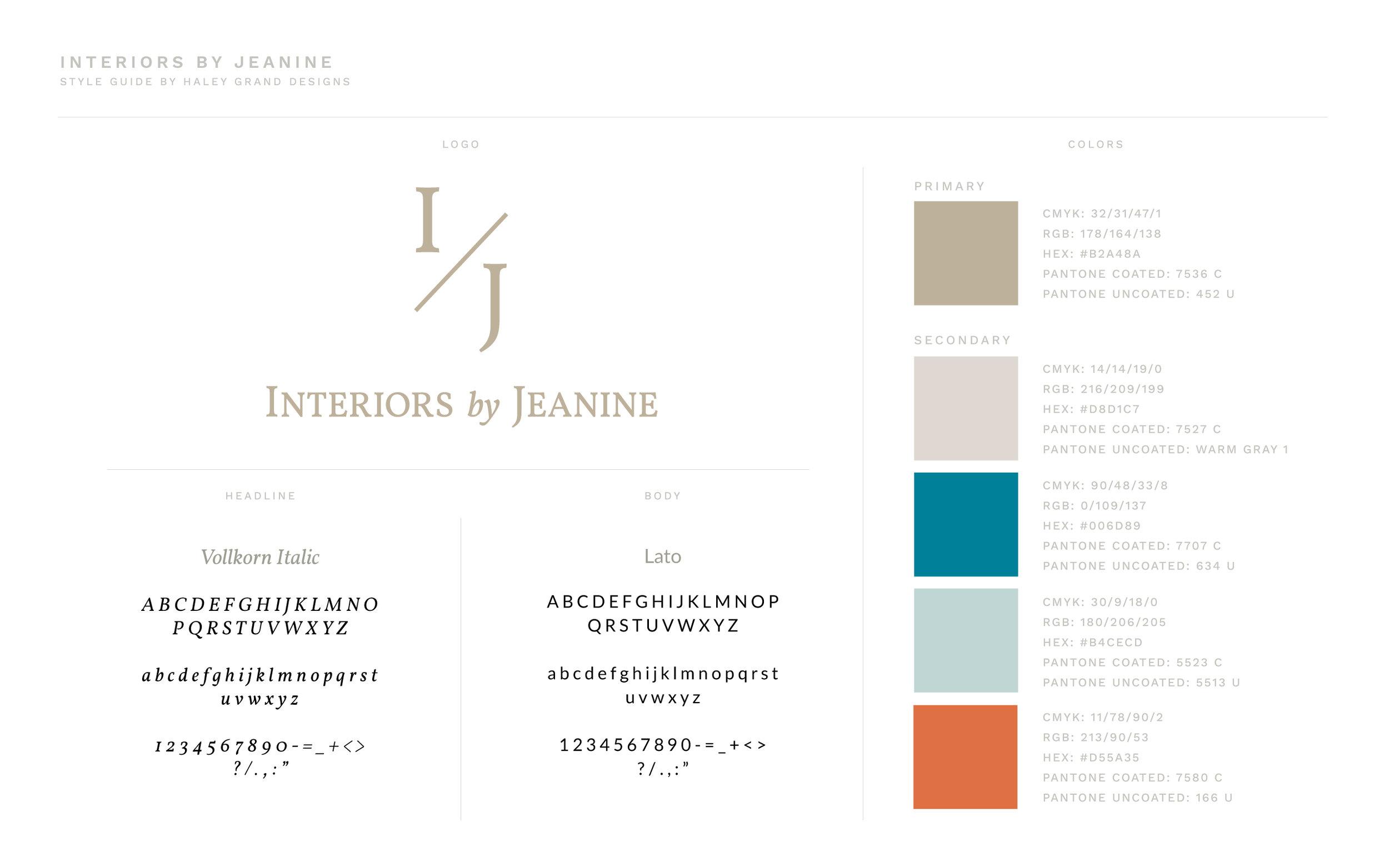 Style Guide and Brand Design For Interior Designer