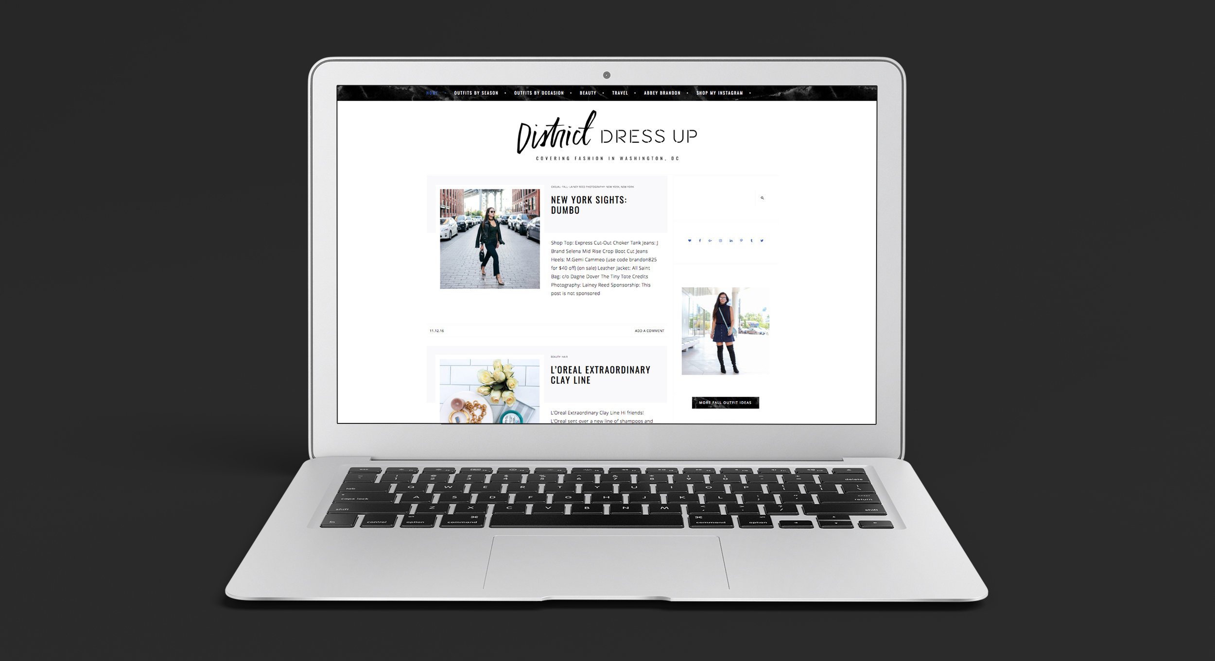Website Design for Style Blogger