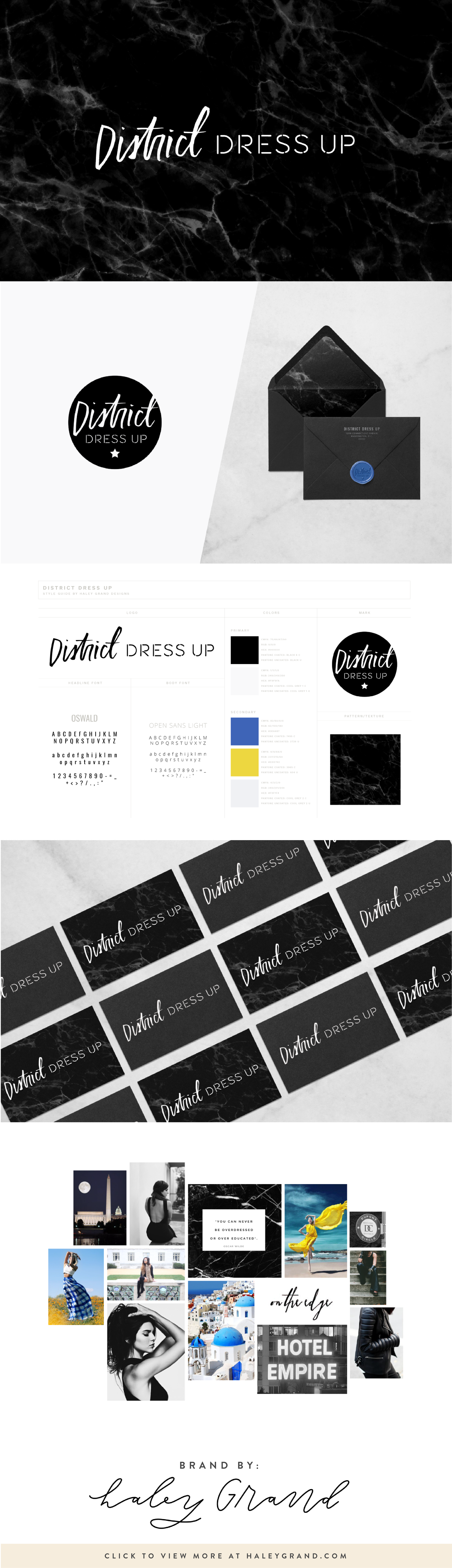 This edgy, sophisticated logo was designed for a personal style blog. The hand-lettered logo makes this modern brand stand out. Are you a creative entrepreneur? Up-level your brand with a logo designed using hand lettering and illustration by Haley Grand!