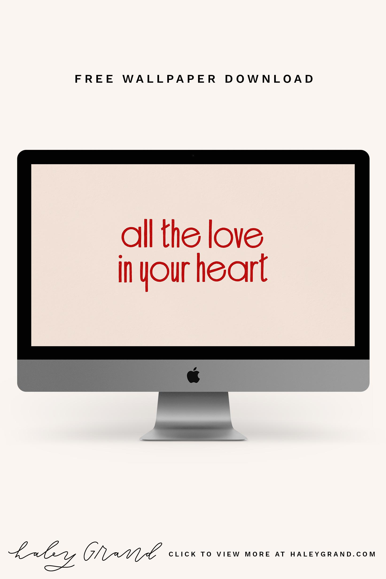 Dress up your desktop with a modern, hand-lettered wallpaper by Haley Grand. #desktopwallpaper #handlettering