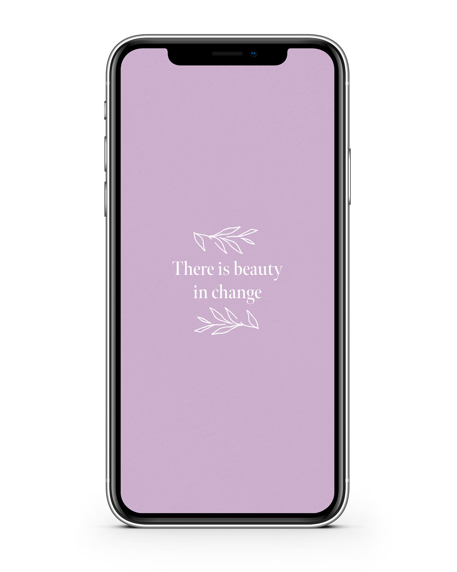 Haley Grand iPhone Wallpaper Beauty in Change