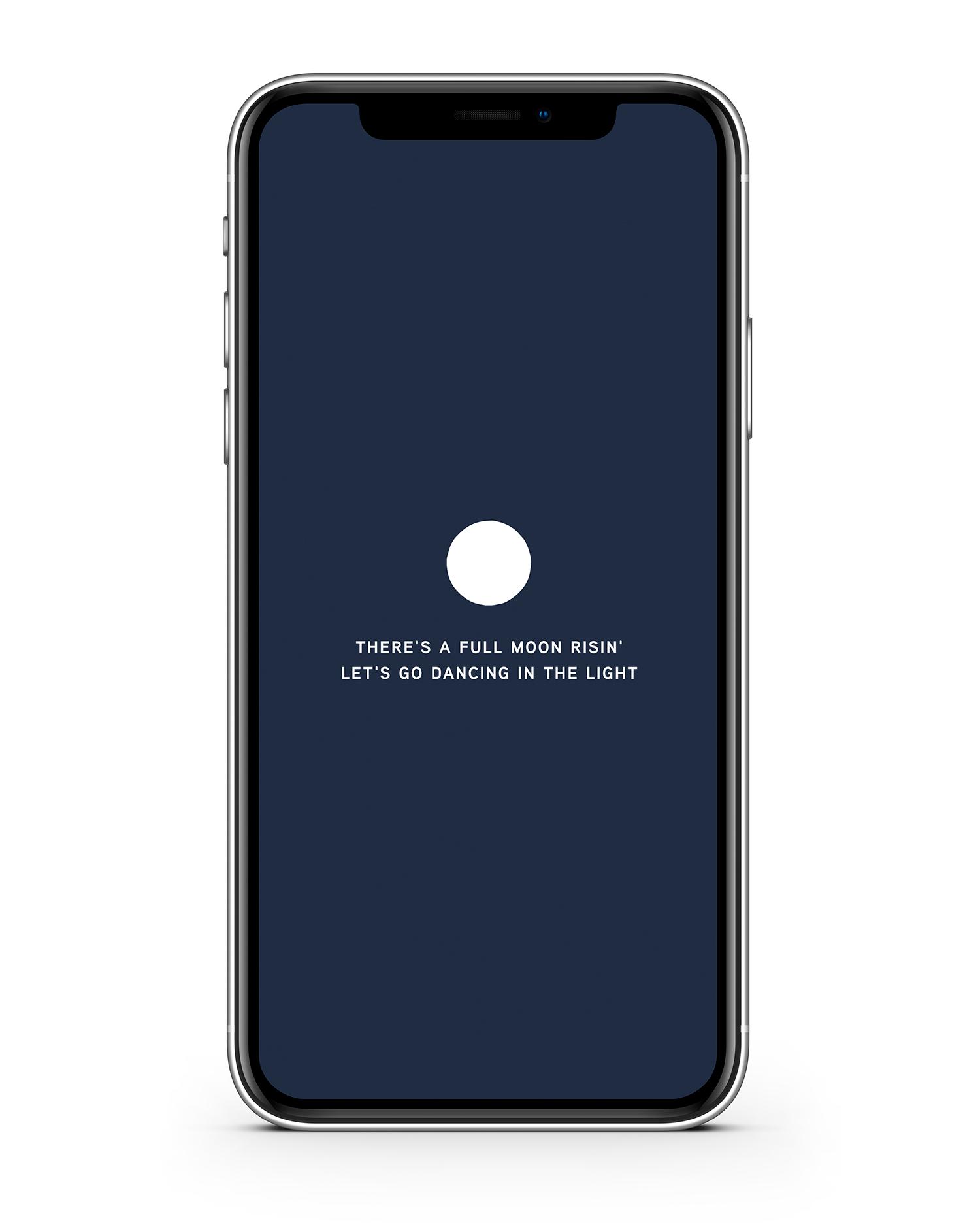 Haley Grand iPhone Wallpaper Full Moon Rising