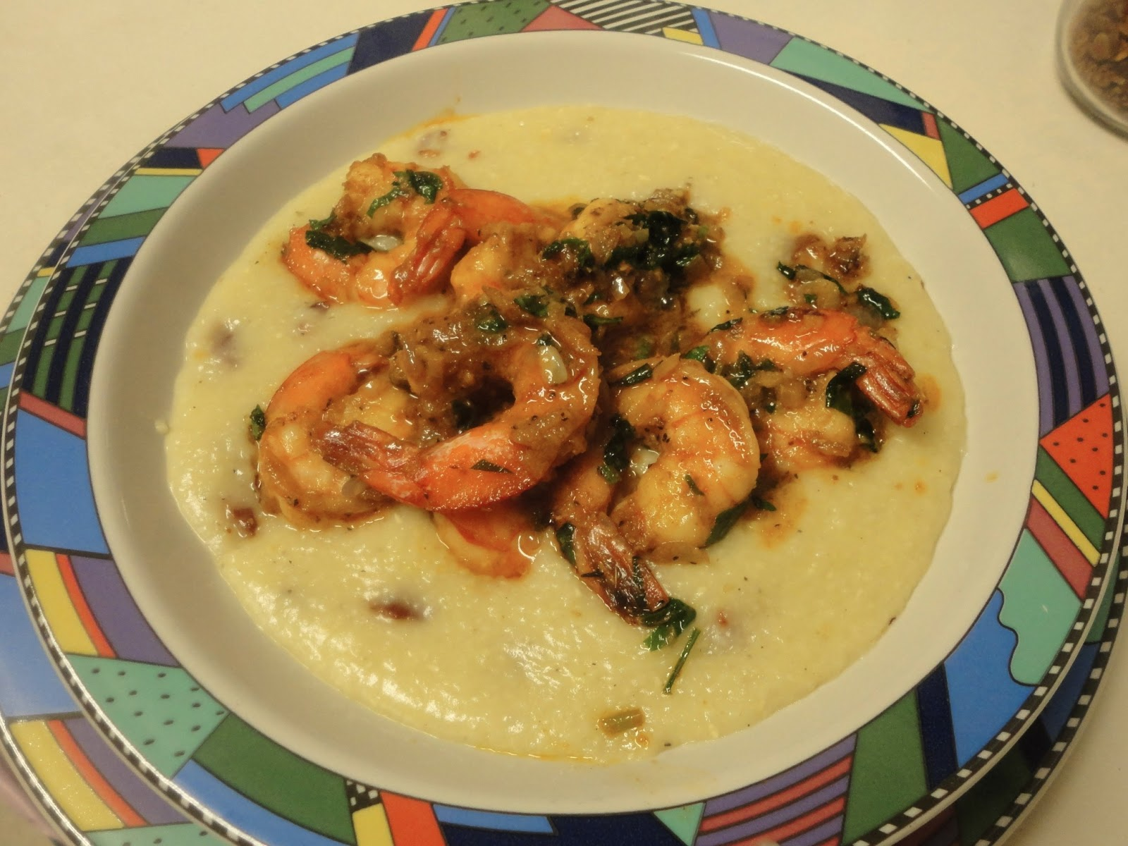 Chef Danielle's Lobster Shrimp and Gluten free Yellow Stoneground White Cheddar Grits (Click for Recipe)