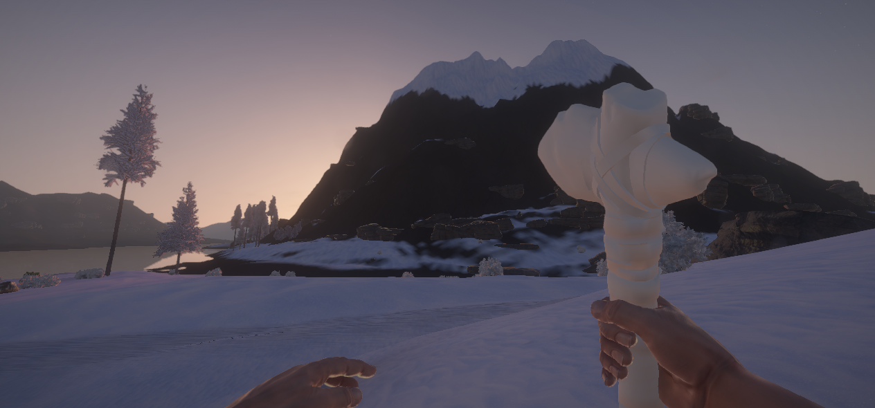 The lack of texture kinda works in the snow biome...