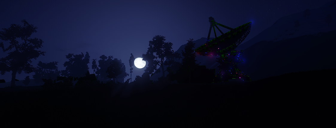Testing out the dev branch last night, I was greeted with a sparkling satellite dish.