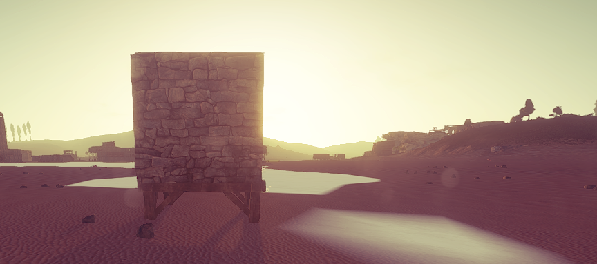 A glimpse of the new stone texture.