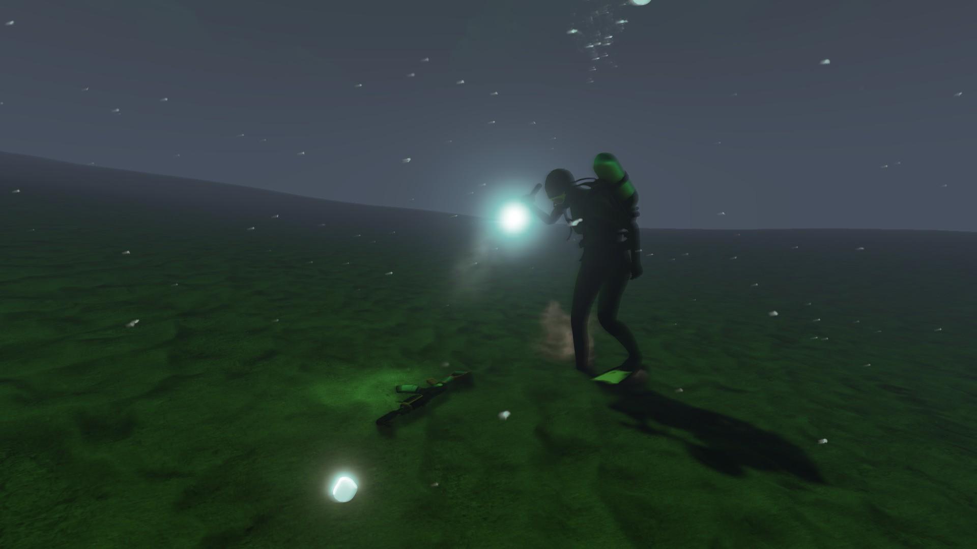 Finding guns under water