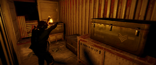 Grab the elite crates from the center rail car