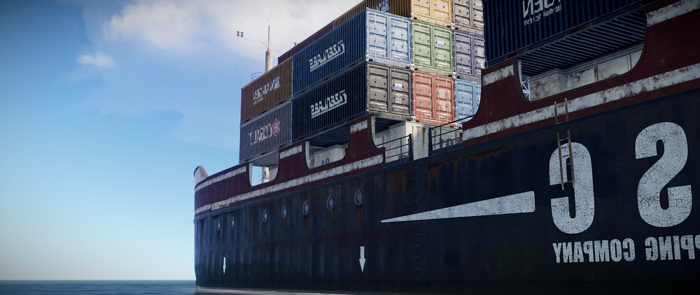 Ladders on cargo ships