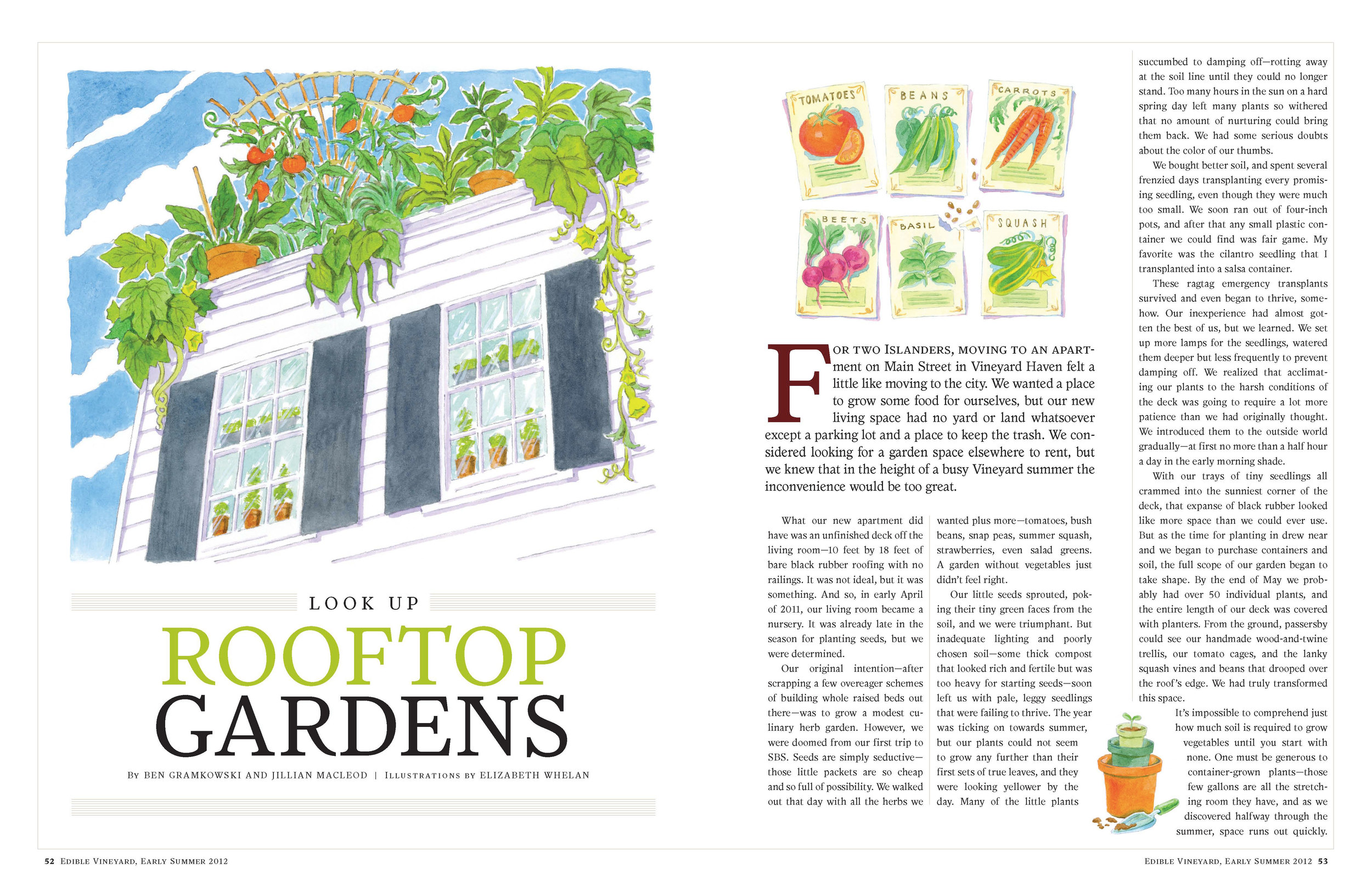 Rooftop Gardens feature opening spread