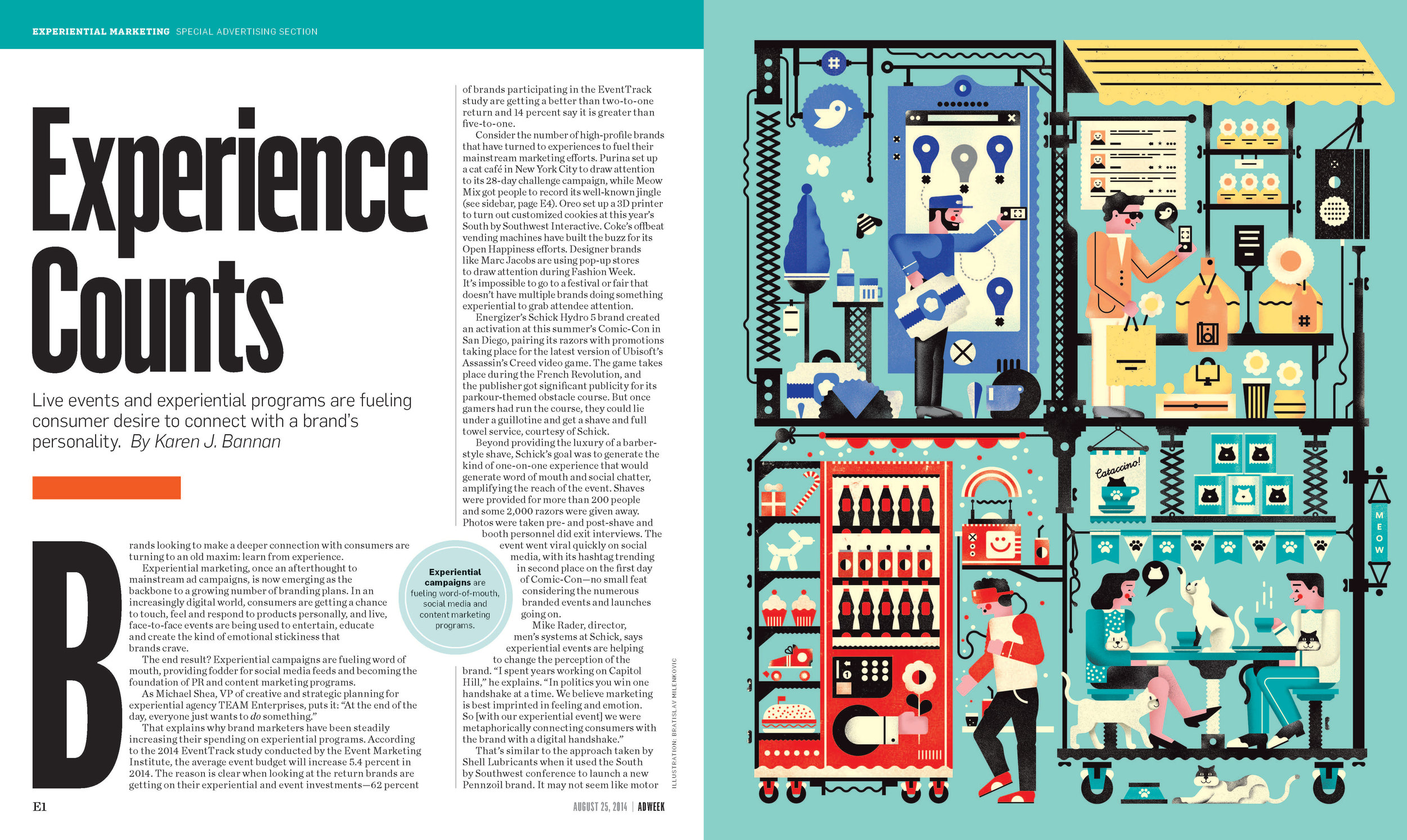 Experiential Marketing feature opening spread