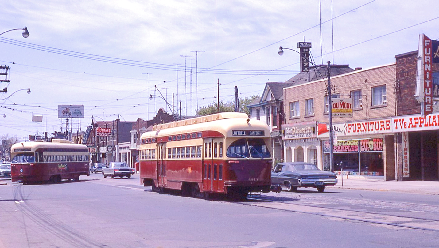 PCC streetcar at the Luttrell Loop CREDIT Steve Munro
