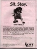 Ad for an obedience school? Nope! A book bindery. Classic false interrupt.