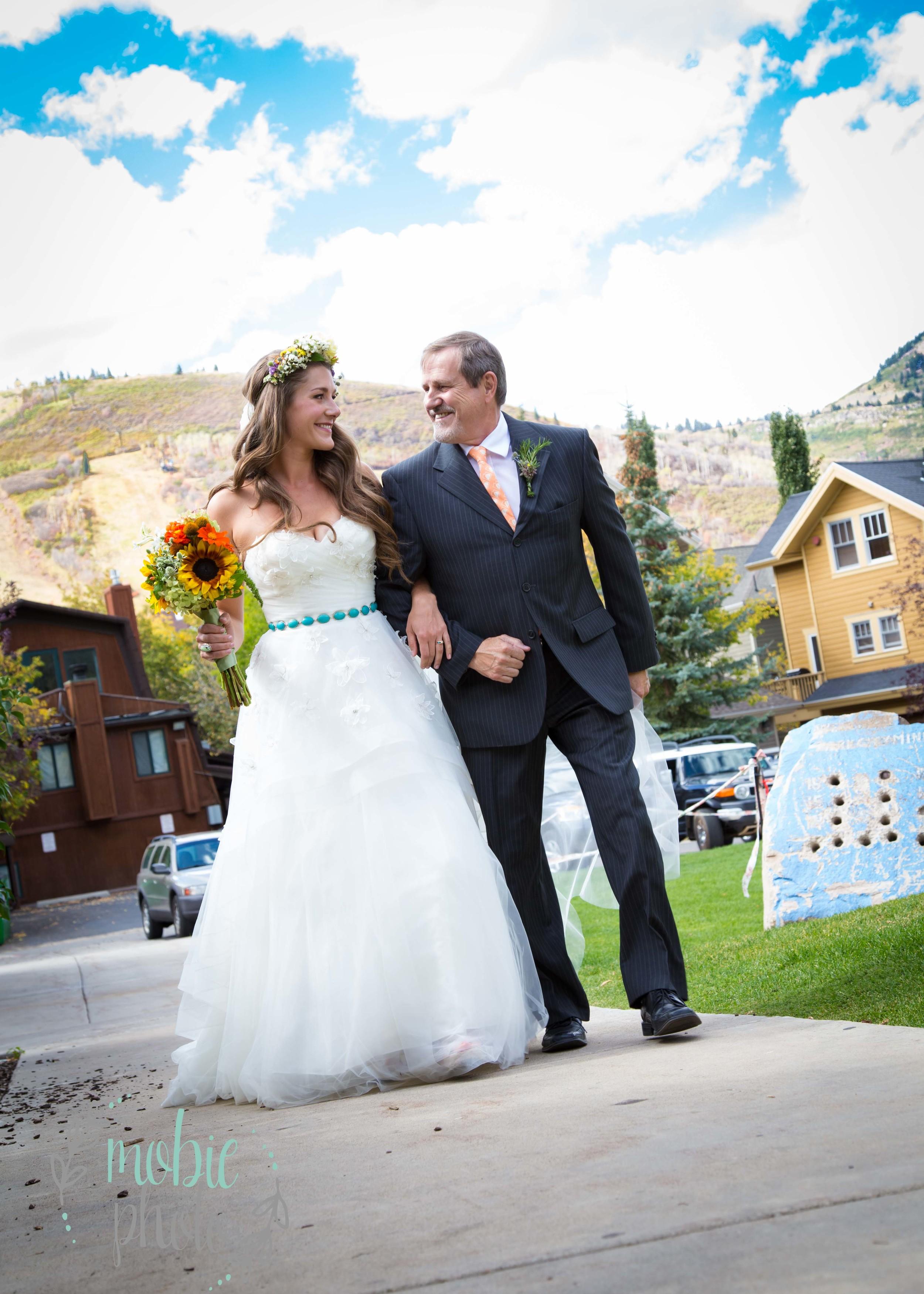 Park City Wedding - Bride with her Dad