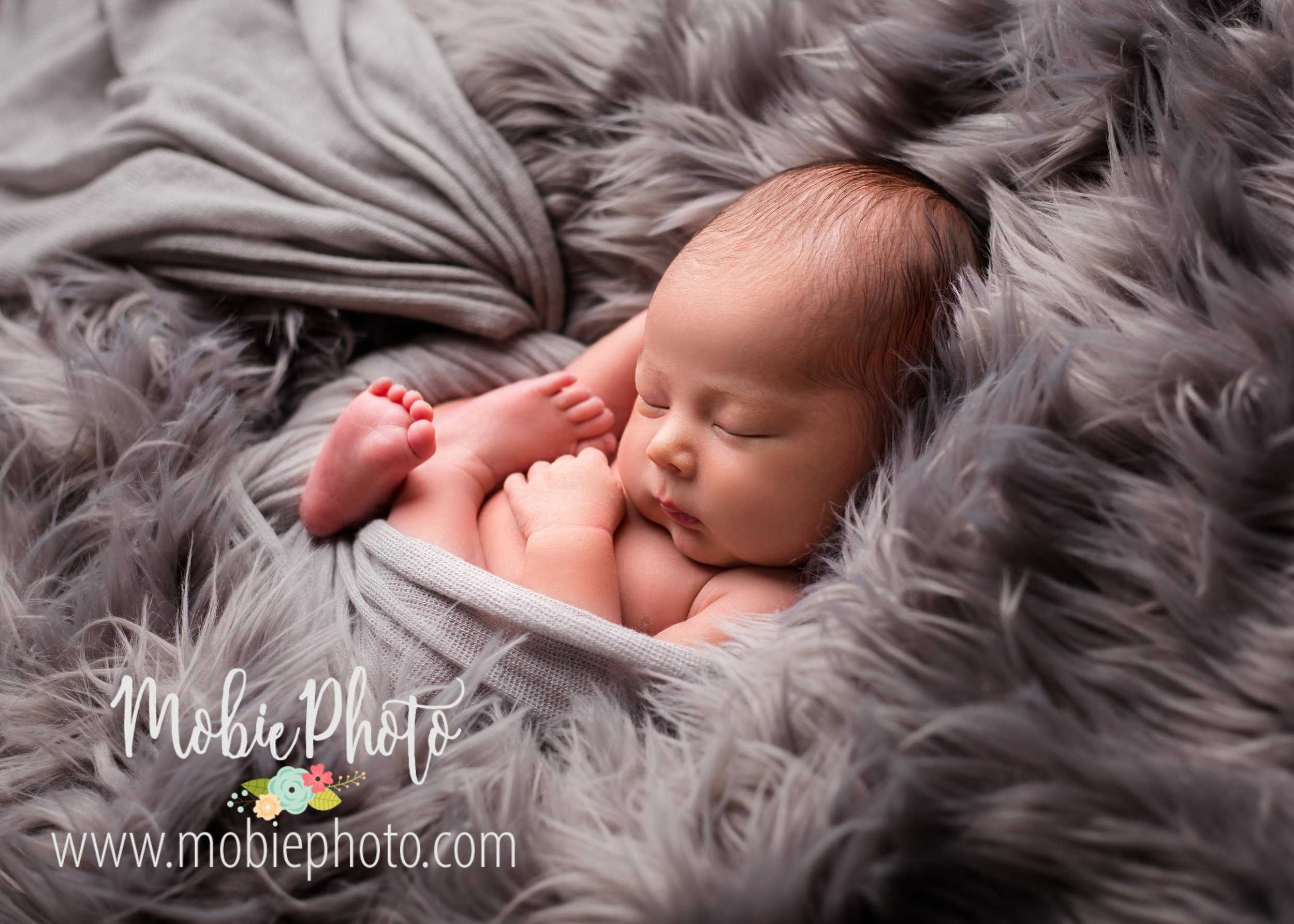 Lehi, Utah Newborn Photographer - Baby Boy Newborn Session with Neutral Colors