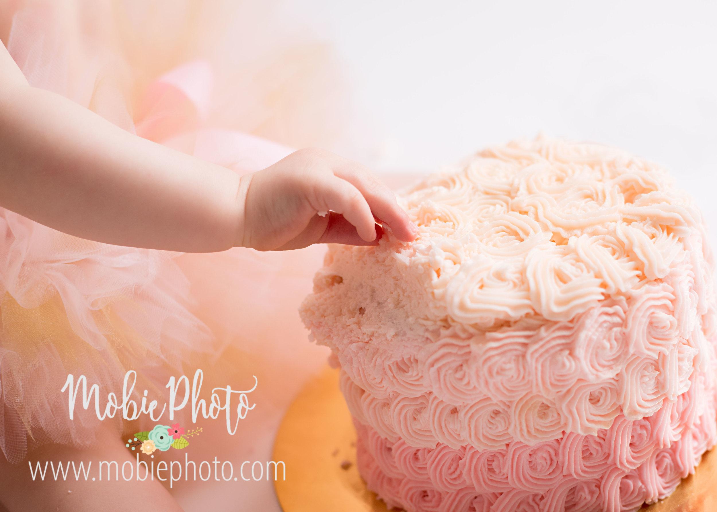 First Birthday Photo Session - Lehi, Utah Photography Studio - Mobie Photo