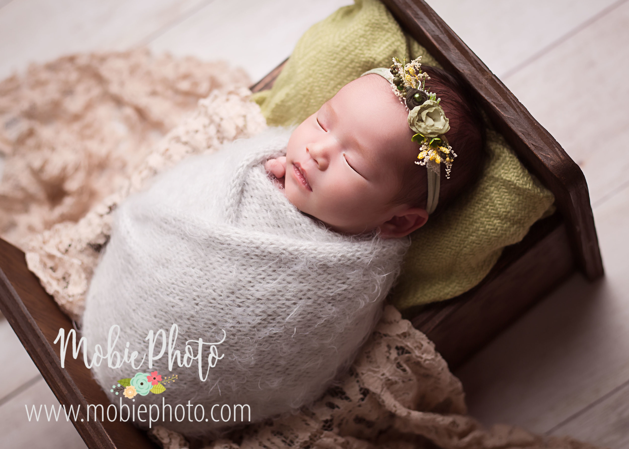 Newborn Baby J at 12 Days Old - Mobie Photo - Lehi, Utah
