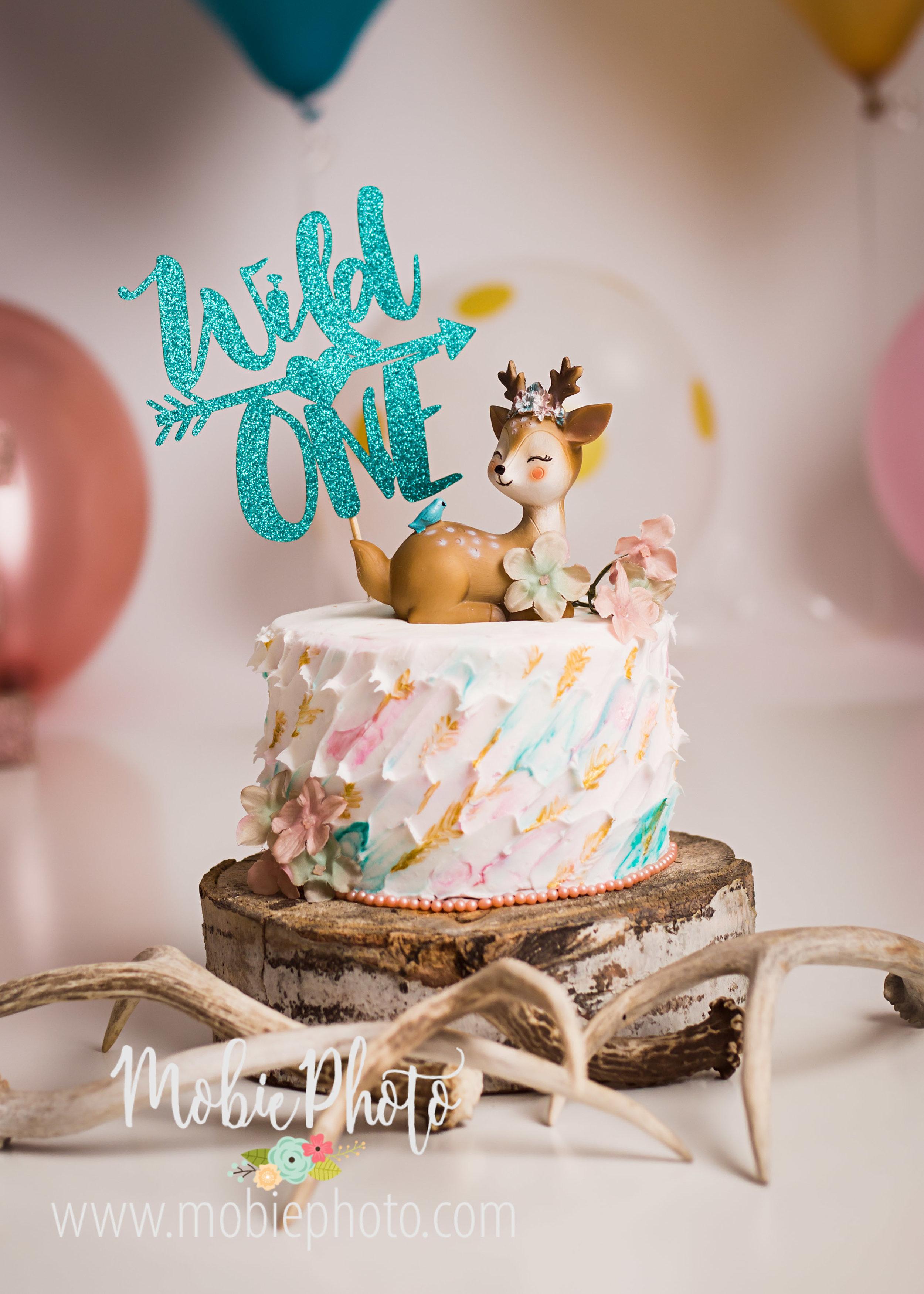 Baby's First Birthday - Cake Smash Photo Session - Mobie Photo Utah Newborn Photography